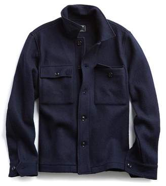 Todd Snyder Italian Boucle Knit Shirt Jacket in Navy