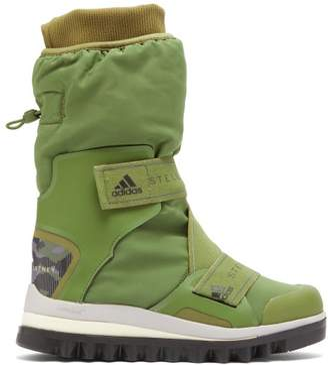 adidas by Stella McCartney Technical Logo Jacquard Boots - Womens - Khaki