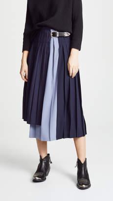 Toga Pulla Wool Pleated Skirt