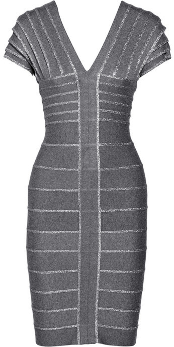 Hervé Léger Layered bandage dress