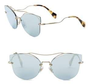 Miu Miu 62MM Mirrored Cat-Eye Sunglasses