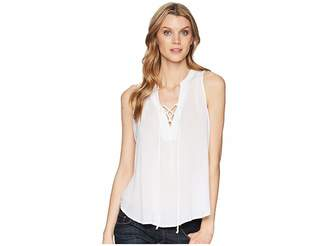 Stetson 1577 Rayon Crepe Laced Loose Tank Top Women's Clothing