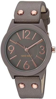Nine West Women's NW/1932TPRG Matte Rubberized Bracelet Watch