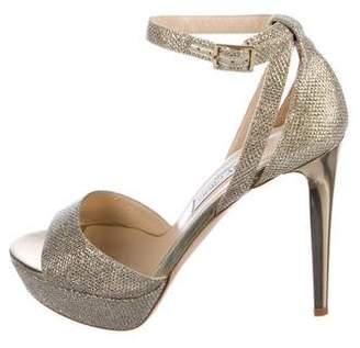 Jimmy Choo Lame Glitter Sandals