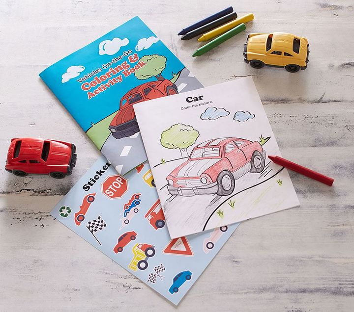 Green Toys - Vehicles Coloring & Activity Kit