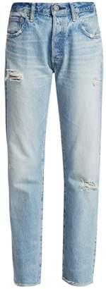 Moussy Vintage Steele High-Rise Distressed Straight Jeans