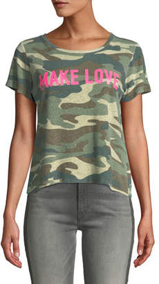 Mother The Itty Bitty Sinful Camo-Print Tee