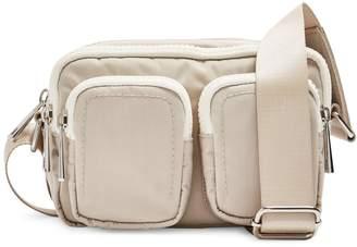 Topshop Double-Pocket Nylon Shoulder Bag