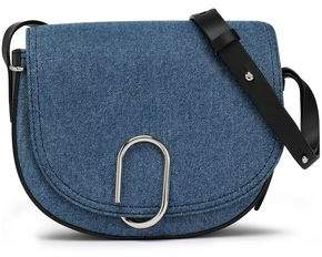 3.1 Phillip Lim Leather-Trimmed Denim Shoulder Bag