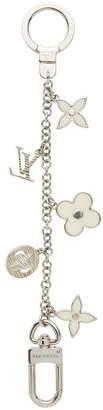 Louis Vuitton Cream Enamel Fleur De Monogram Bag Charm