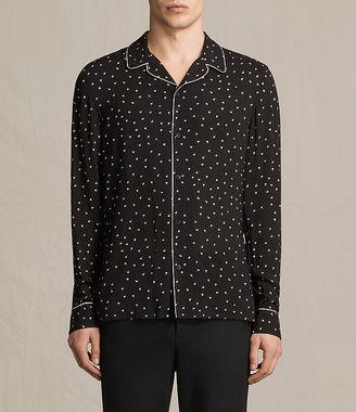 AllSaints Trefoil Pajama Shirt $165 thestylecure.com