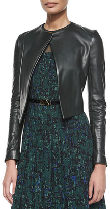 Jason Wu Open-Front Cropped Leather Jacket $2,995 thestylecure.com