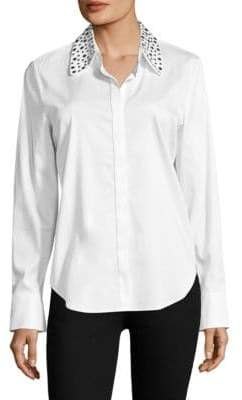 AG Jeans Studded Collar Button Front Shirt