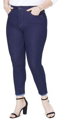 NYDJ Alina Contrast Hem Ankle Skinny Jeans