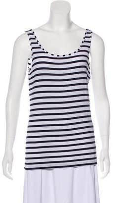 Adrienne Vittadini Striped Sleeveless T-Shirt