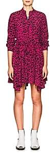 Robert Rodriguez Women's Leopard-Print Silk Tie-Waist Dress-Pink