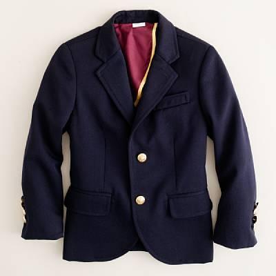 J.Crew Boys' two-button schoolboy blazer