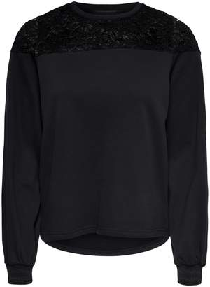 Only Catalina Lace Detail Sweatshirt