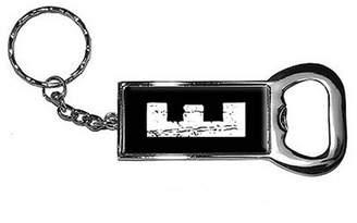 Generic Letter Initial E Keychain Key Chain Ring Bottle Bottlecap Opener