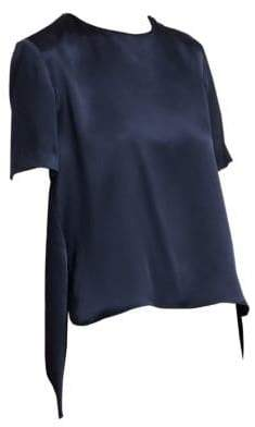 ADAM by Adam Lippes Silk Charmeuse Crossback Blouse
