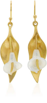 Cala Lily 18K Gold Mother of Pearl Earrings