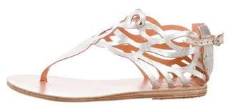 Ancient Greek Sandals Metallic Thong Sandals