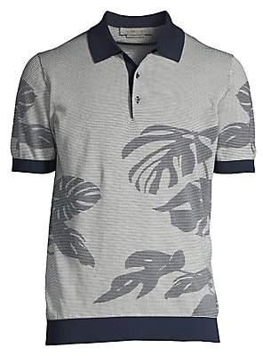 Corneliani Men's Palm Print Polo