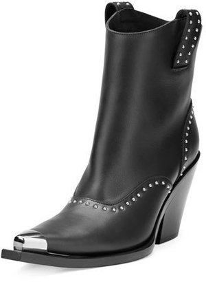 Givenchy Studded Leather Western Boot, Black $1,550 thestylecure.com