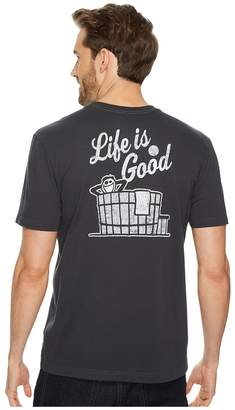 Life is Good Hot Tub Men's Short Sleeve Pullover