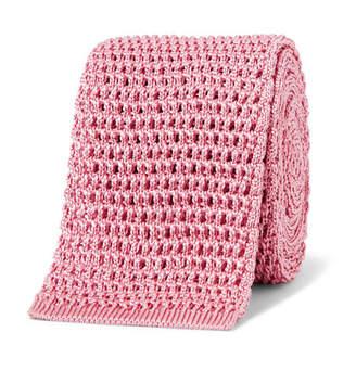 Tom Ford 7.5cm Knitted Silk Tie - Men - Pink