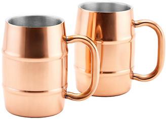 One Kings Lane Set of 2 Crawford Mugs - Copper