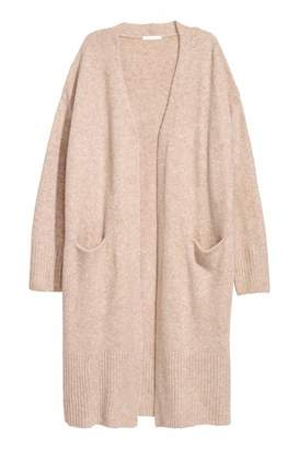H&M Long Cardigan - Light beige melange - Women