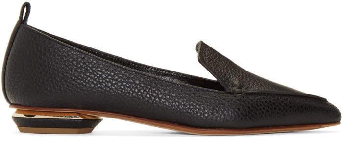 Nicholas Kirkwood Black Leather Beya Loafers