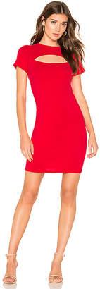Bobi Draped Modal Jersey Bodycon Dress