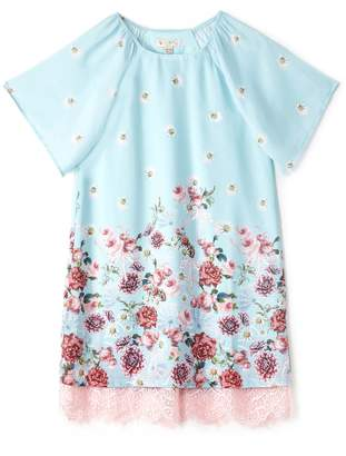 Yumi Girls Girls Vintage Floral Border Tunic