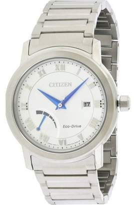 Citizen Men's Eco-Drive Dress Quartz Stainless Steel Casual Watch, Color:Silver-Tone AW7020-51A