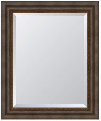 "Melissa Van Hise Dark Bronze with Gold Lip Framed Mirror - 29.25"" x 35.25"" x 2"""