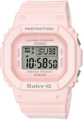 Baby-G Women's Digital Blush Pink Resin Strap Watch 40mm