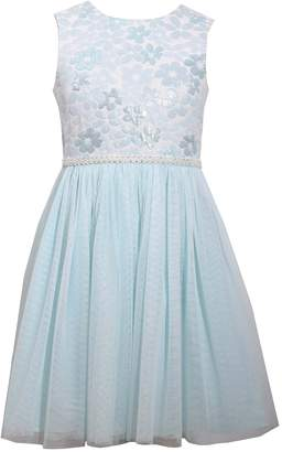 Bonnie Jean Girls 7-16 & Plus Size Floral Bodice Mesh Skirt Dress