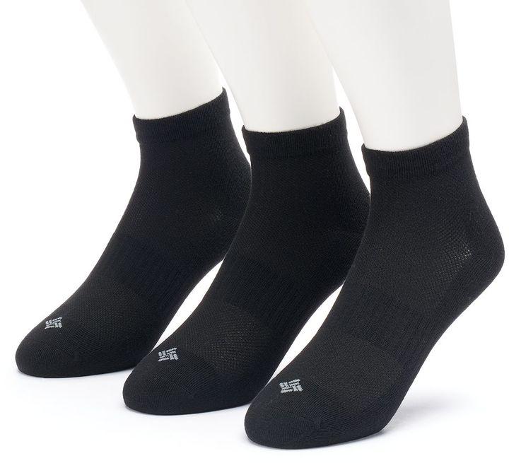Men's Columbia 3-pack Flat-Knit Quarter Socks