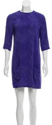 Equipment A-Line Printed Mini Dress