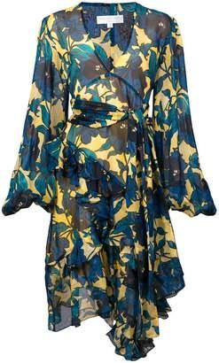 Caroline Constas floral printed flared dress