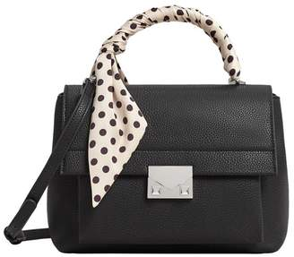 MANGO Black 'Lunar' Scarf Handle Bag