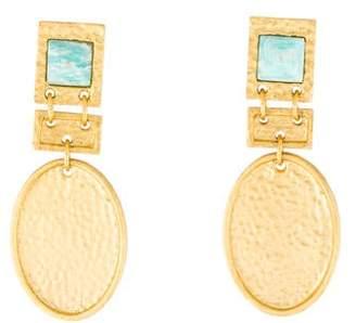 Stephanie Kantis Amazonite Facination Drop Earrings
