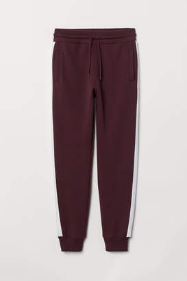H&M Joggers with Side Stripes - Red