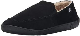 Isotoner Men's Suede Leather Slip On Flat