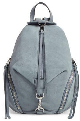Rebecca Minkoff Medium Julian Nubuck Backpack - Blue $275 thestylecure.com