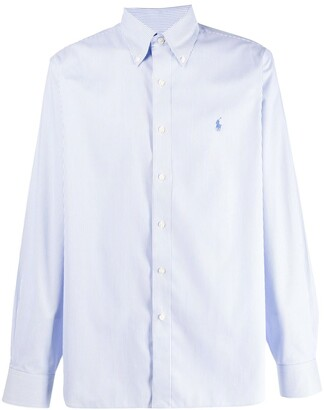 Polo Ralph Lauren logo embroidered striped shirt