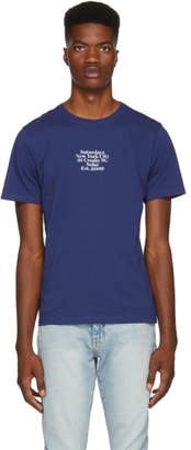 Saturdays NYC Blue Gotham Black Chest Shirt