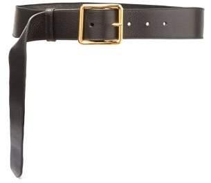 Alexander McQueen Buckle Leather Belt - Womens - Black